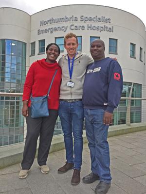 Silindiwe and Mudzi with Matthew Connolly 400 30-3-17